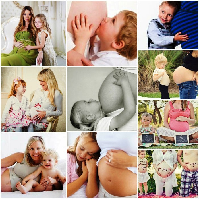 Фотосет беременной с детьми