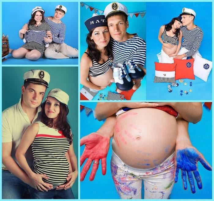 Морская «беременная» фотосессия
