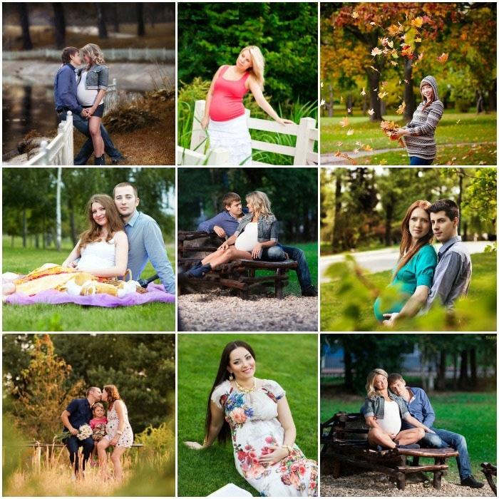 Парковая фотосессия для беременной