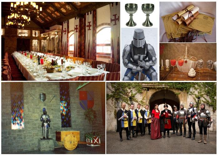 Идеи оформления зала исторической кино-свадьбы