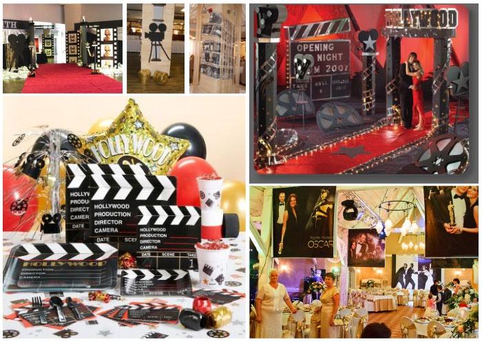 Примеры украшения зала для свадьбы кинофестиваль