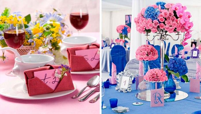 Цветовые решения для столового белья и декора