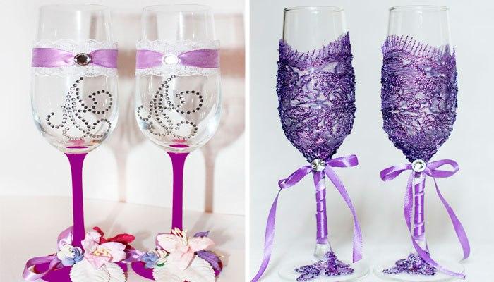Мастер класс по дизайну бокалов Украшение свадебных
