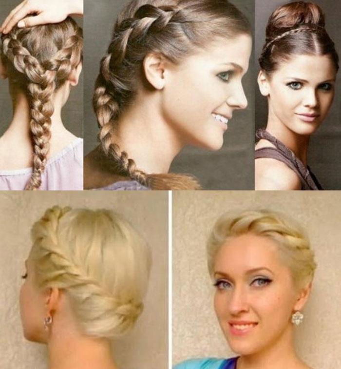 Фото: прическа невесты греческая коса