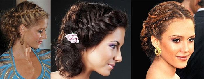 Прически новобрачной: плетения в греческом стиле На распущенные волосы с фатой