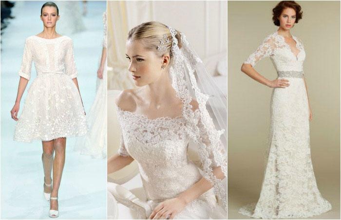 Свадебный наряд: рукава до локтя