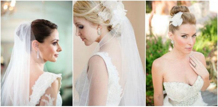 Пучки и фата в свадебных тенденциях