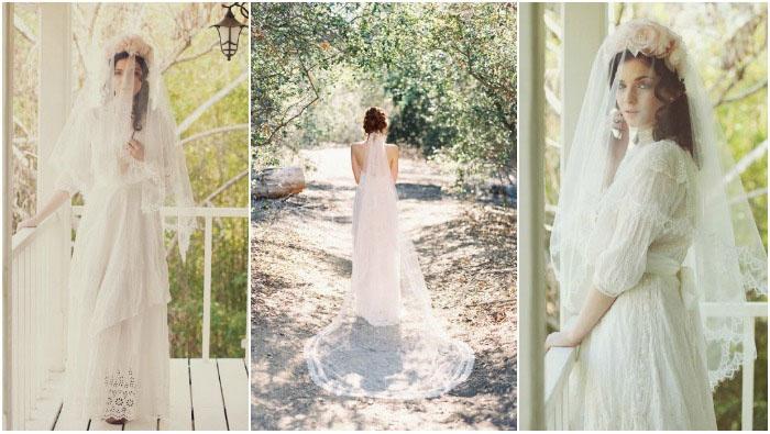 Свадебные прически этого года: длинная фата