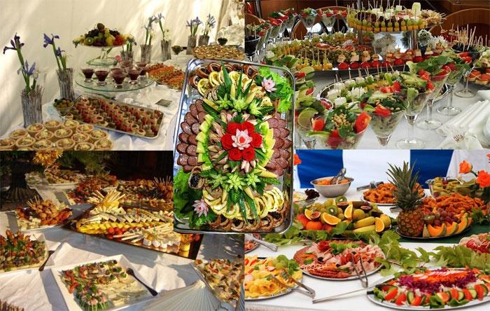 Праздничные блюда на свадьбе без банкета