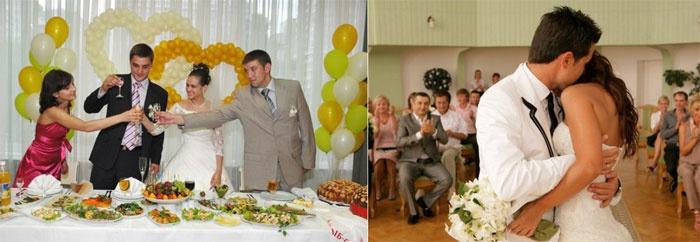 Приятные моменты на свадебном банкете