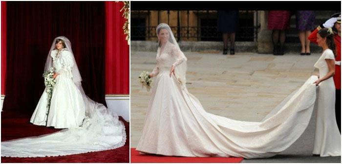 Знаменитые свадебные наряды со шлейфами