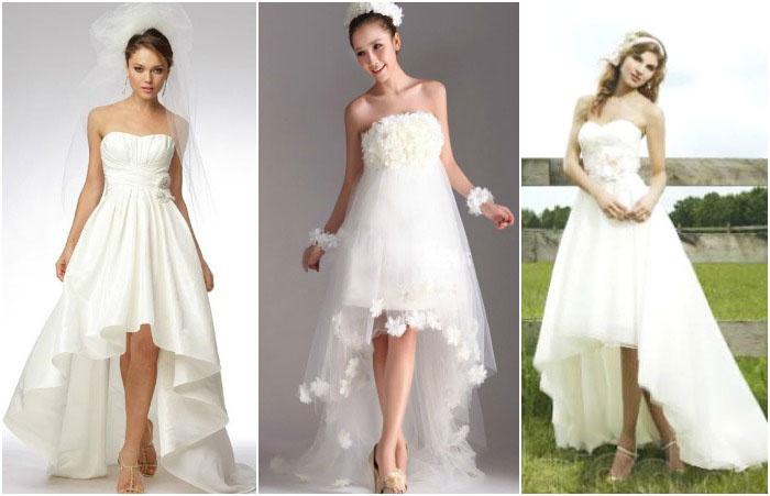 Шлейфы для платьев средней длины для свадьбы
