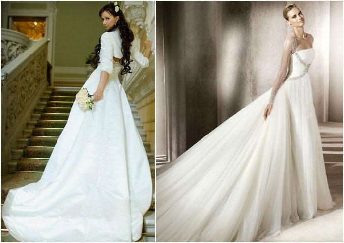 Материалы для шлейфовых свадебных нарядов