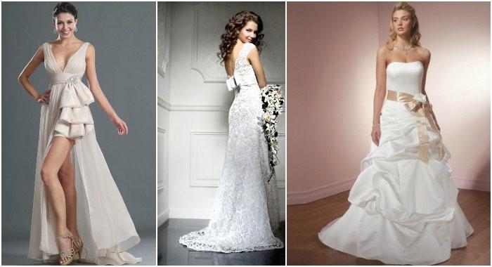 Шлейфы для нарядов на свадьбу разной длины