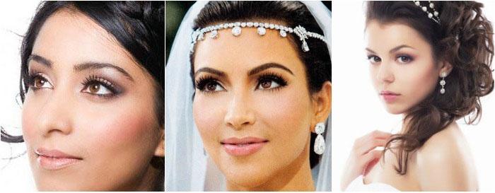 Свадебный макияж: фото для кареглазых брюнеток