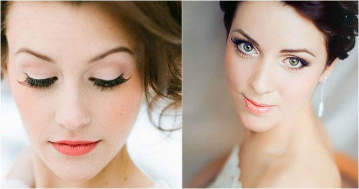 Свадебный макияж: фото для зеленоглазых брюнеток