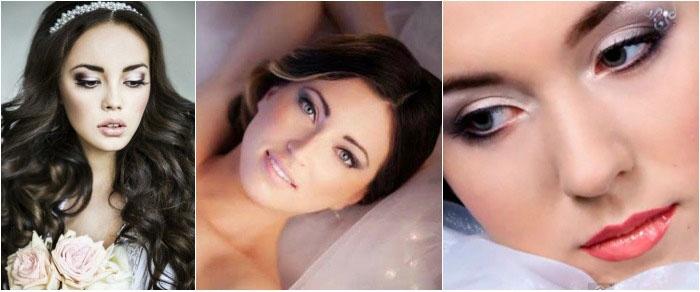 Свадебный макияж: фото для светлокожих брюнеток