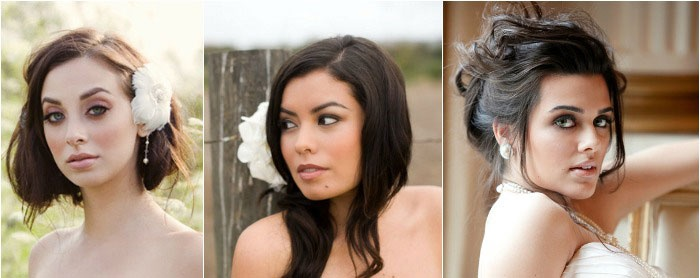 Свадебный макияж: фото основы для брюнеток