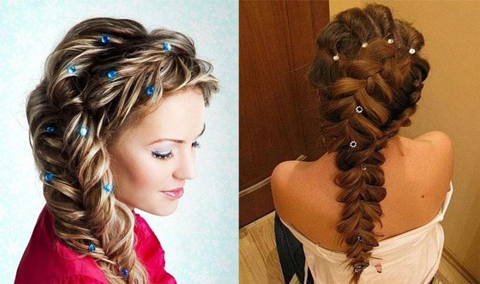 Французская коса – вариант укладки для свидетельницы