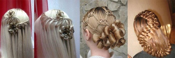 Плетение на волосах в образе свидетельницы