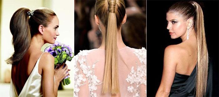 Конский хвост для образа подружки невесты