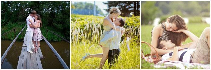 Ситцевая свадьба: фотосъемка молодоженов на природе