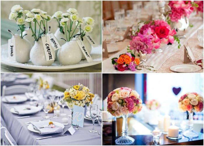 Цветы как вид декора для стола
