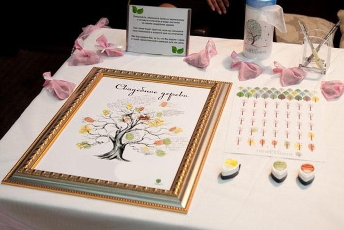 Аксессуары для дерева пожеланий на свадьбу