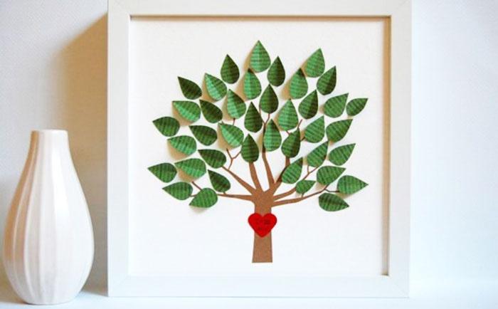 Объемная картина свадебного деревца для пожеланий