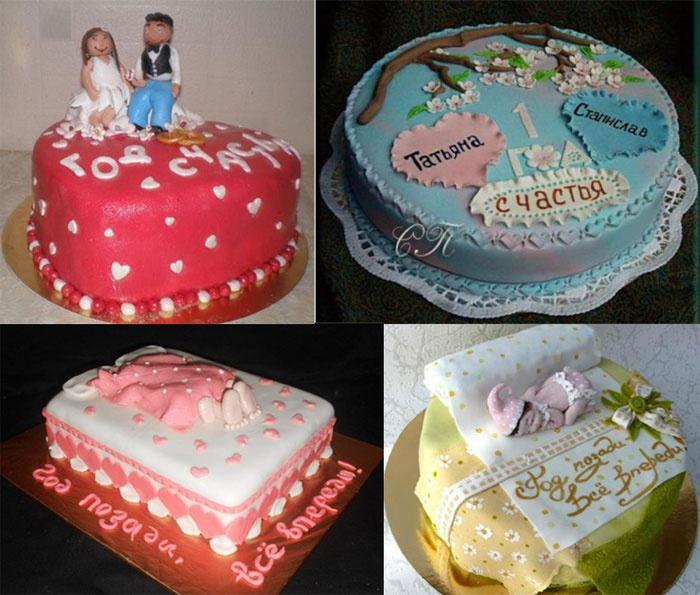 Торт с тематикой ситцевой свадьбы