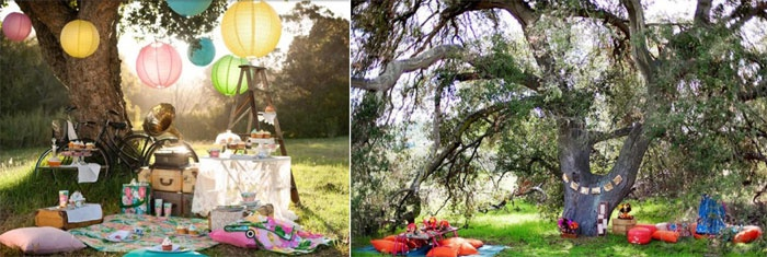 Оформление праздничного пикника на ситцевую годовщину