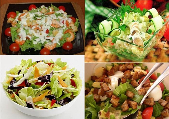 Аппетитные салаты – лучшее угощение для ситцевого праздника