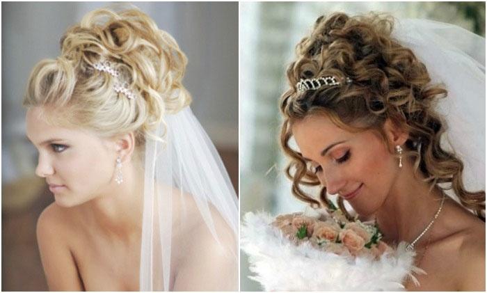 Свадебная укладка: греческий стиль и фата