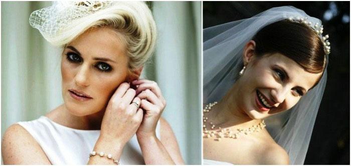 Свадебные укладки под фату: для коротковолосых невест
