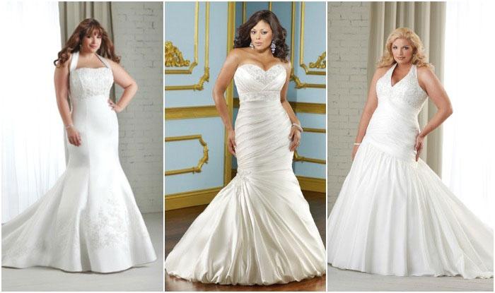 Свадебная «русалка» для полных девушек