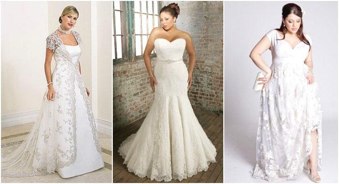 Кружевные платья полным невестам