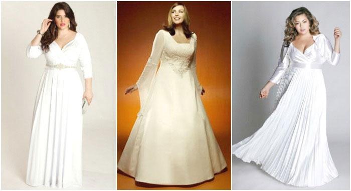 Платье с рукавами: свадебный образ пышечки