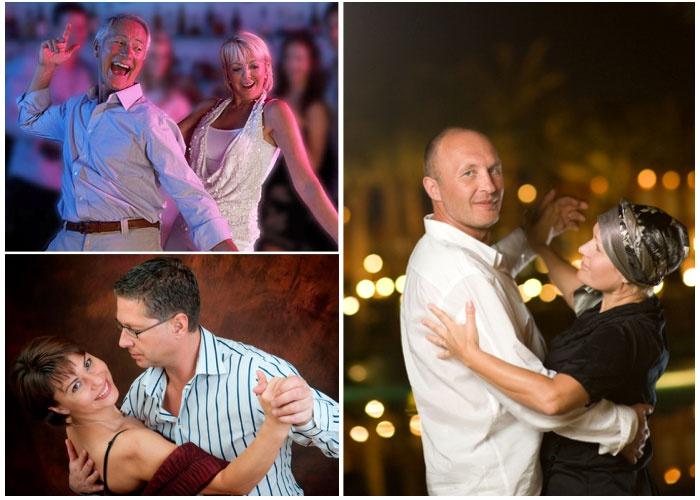 Танец супружеской пары на годовщине никелевой свадьбы