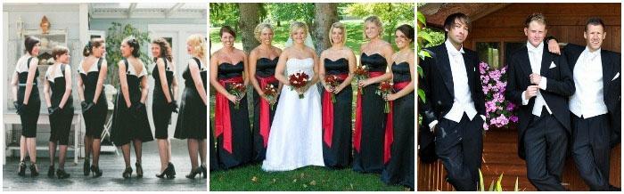 Одежда для свидетелей и гостей темной свадьбы