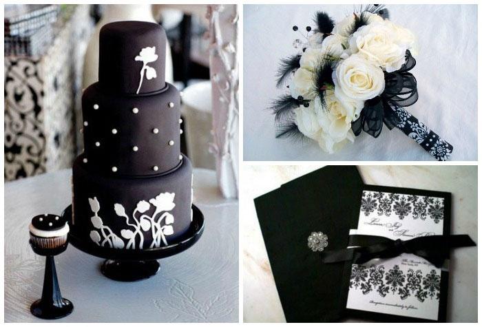 Аксессуары для свадьбы черного цвета