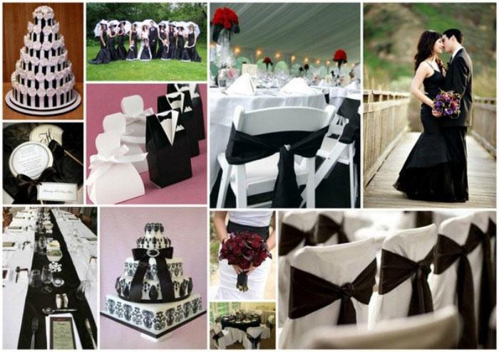 Идеи для оформления зала к темной свадьбе