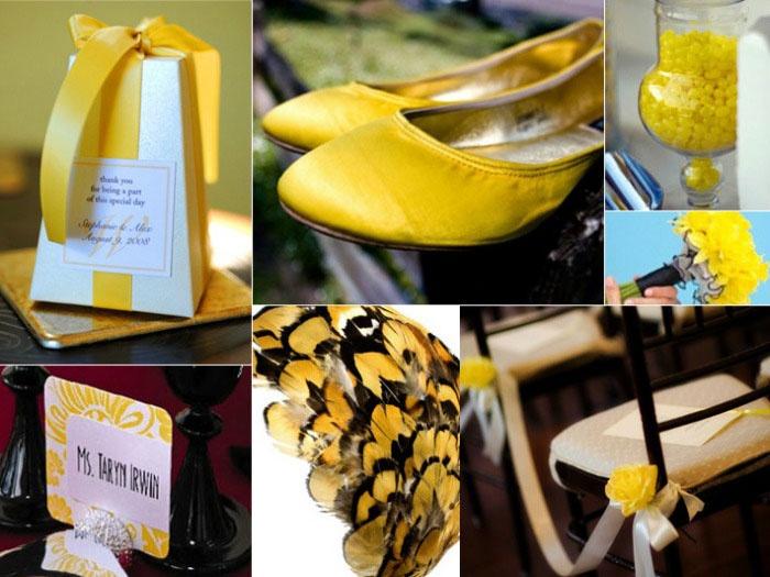 Идеи для желто-черной свадьбы