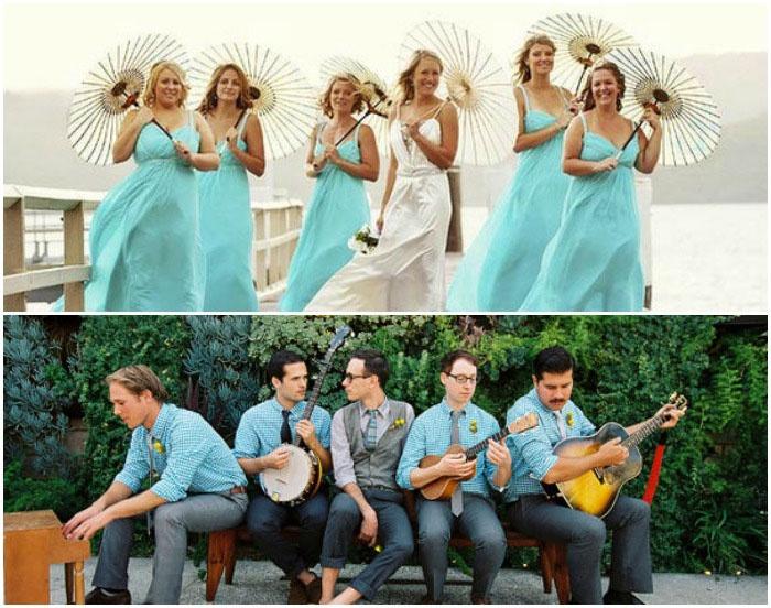 Одежда для гостей голубой свадьбы