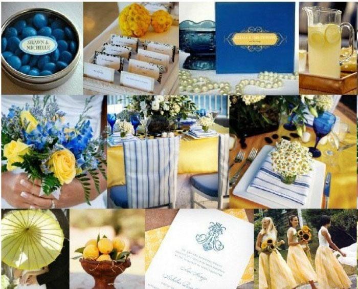 Желто-голубая свадьба