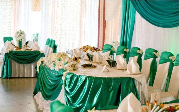 Оформление зала к 55-летнему юбилею свадьбы