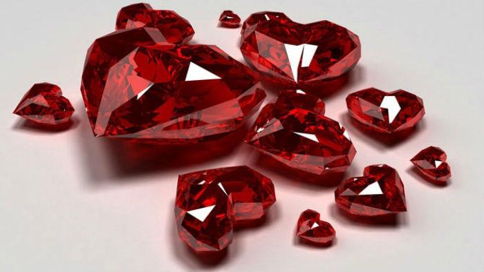 Драгоценный камень рубин символ 40 годовщины