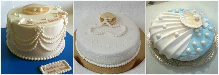 Торт к свадьбе жемчужной
