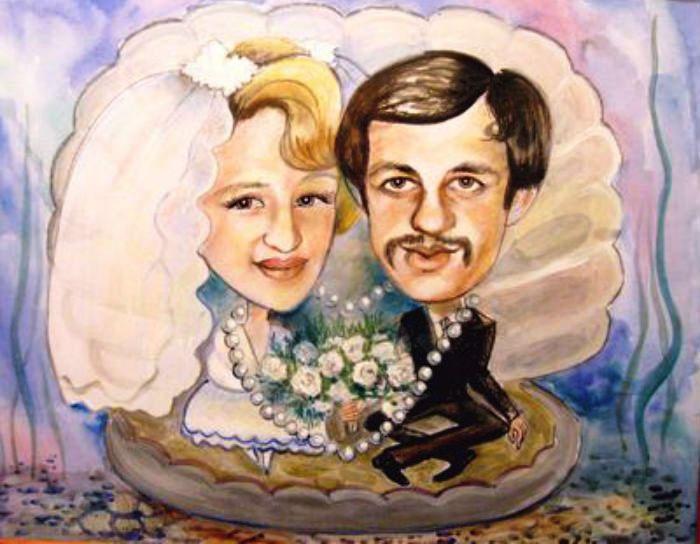 Конкурс смешной портрет молодых на жемчужной свадьбе