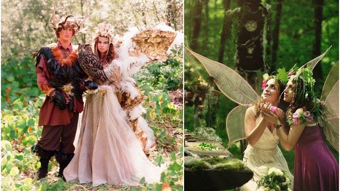 Сказочный дресс-код лесной свадьбы