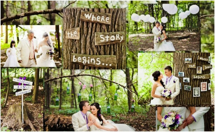 Романтичная лесная свадьба